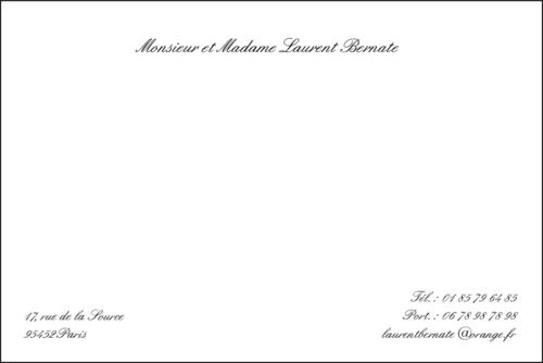 Carte De Visite Condoleances Pour Particulier