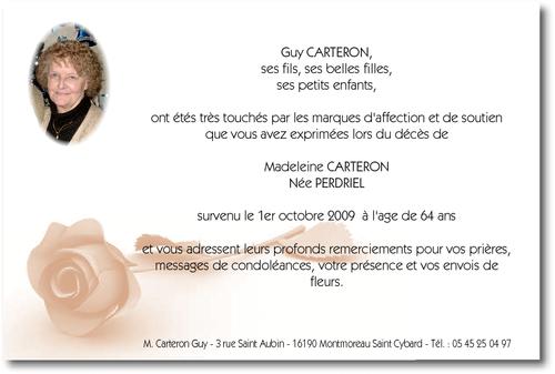"""Extrêmement La Rose Sépia avec photo du défunt"""" - Carte de Remerciement décès  JD69"""