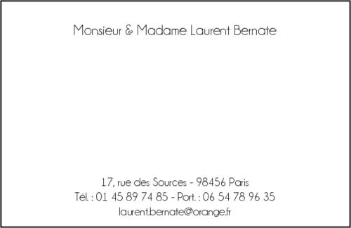 Carte De Visite Format Bancaire Pour Portefeuille