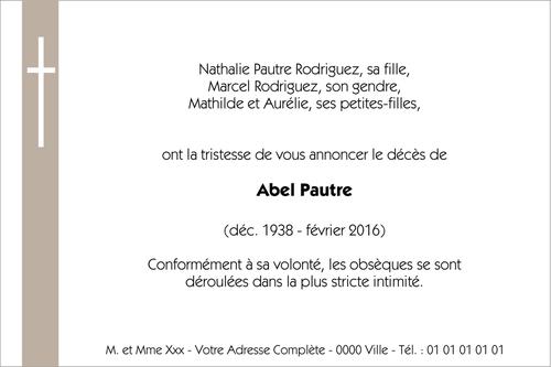 Faire Part Deces Collection De Faire Part De Deces Personnalisable