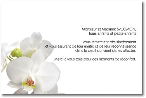 orchid e carte de remerciement d c s sur deuil. Black Bedroom Furniture Sets. Home Design Ideas