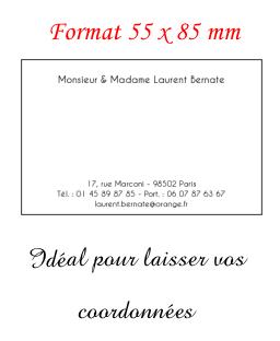Nous Vous Proposons Un Format 55 X 85 Cm Et De Carte Visite Correspondance Au 10 15
