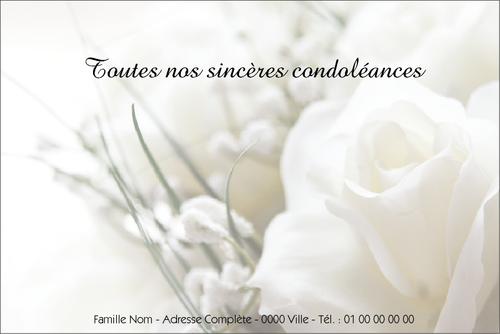 Bekannt Carte condoléances - Modèles et exemples texte cartes condoléances FT52