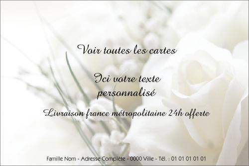 Extrem Carte remerciement condoléances pour un décès - Modèles et  IG85